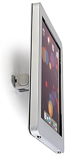 Secure iPad wall mount with strong aluminum casing
