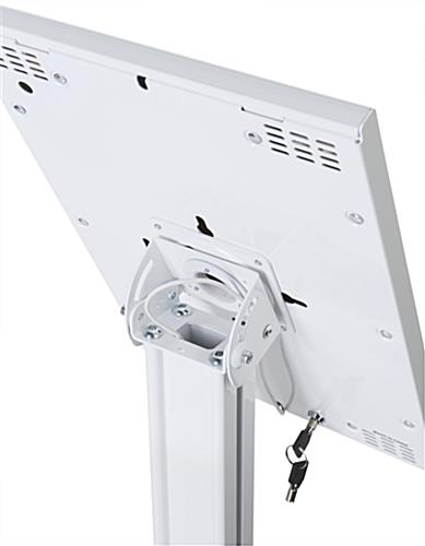 Lockable iPad Pro Vertical Stand