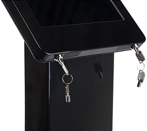 Locking iPad Pro Enclosure Kiosk