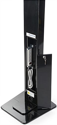 iPad Pro Enclosure Kiosk with Built-In Power Strip