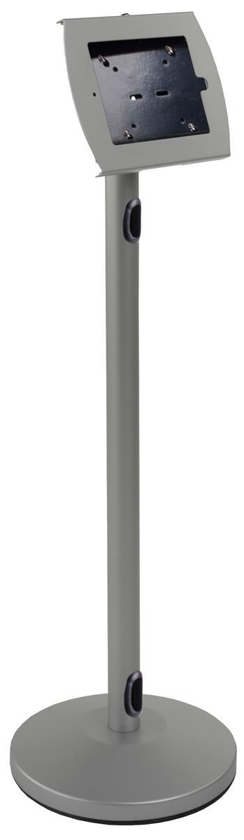 Displays2go iPad Floor Stand, Locking Enclosure w/ Expose...