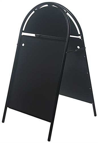 24 x 36 Sidewalk Sign with Magnetic Lens, Separate Headers, Double Sided -  Black