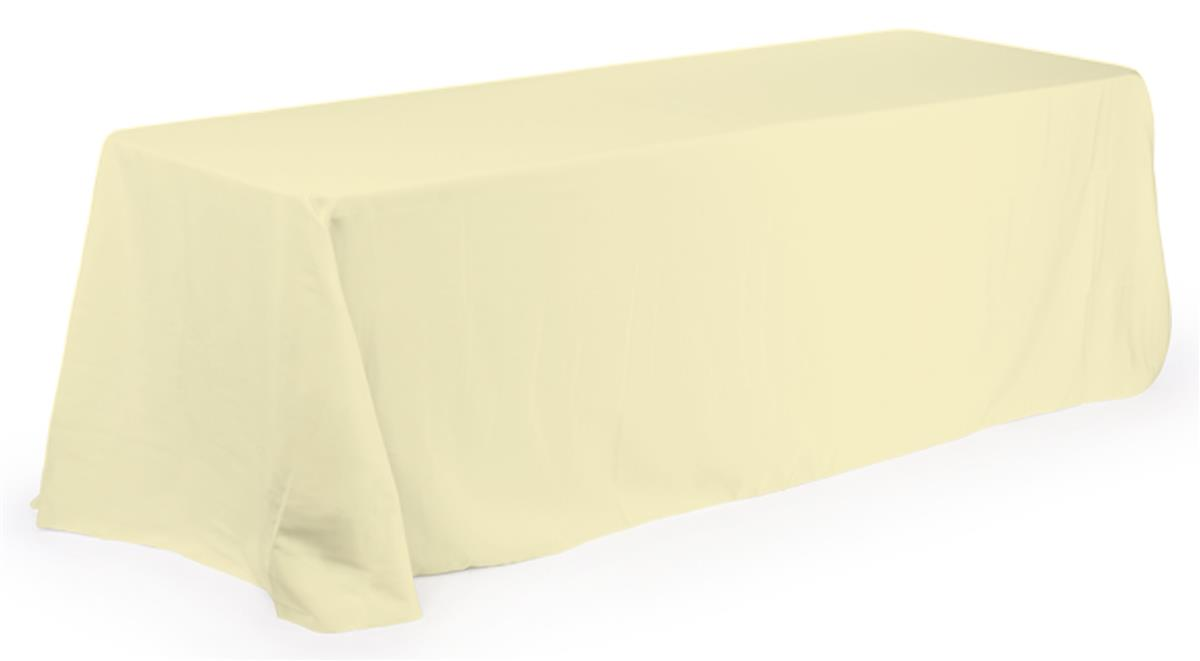Banquet Tablecloths With Rounded Corners For 6 Ft Table Ivory