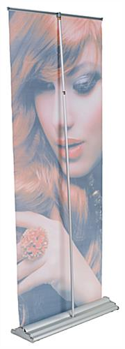 "33"" Retractable Vinyl Banner Stand Single Sided"