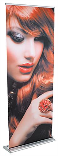 "33"" Retractable Vinyl Banner Stand with Full Color Graphic"