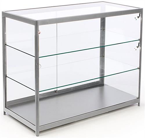 Aluminum Framed LED Glass Store Counter