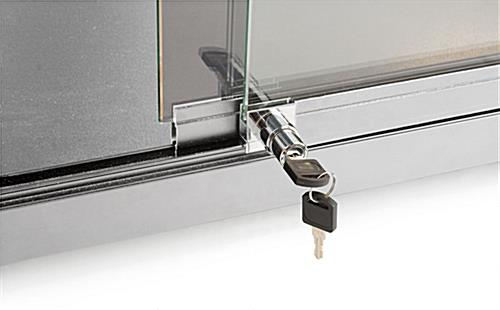 Glass Countertop Display Case with Keys