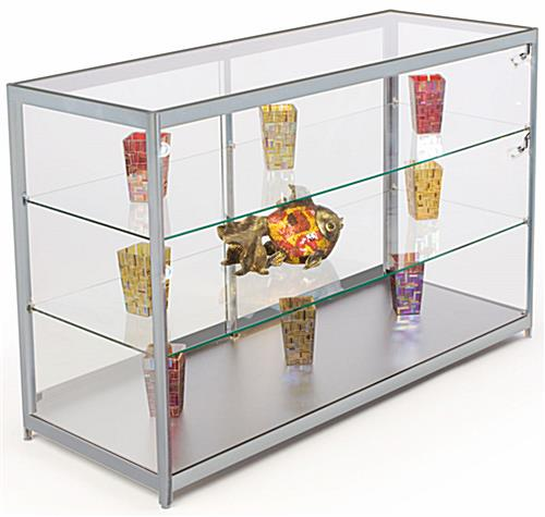 "60"" Wide Glass Countertop Display Case"