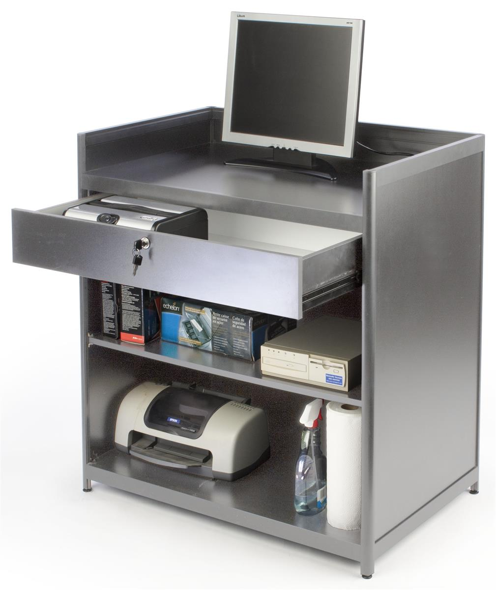 Cash Wrap Furniture Silver With Locking Drawer