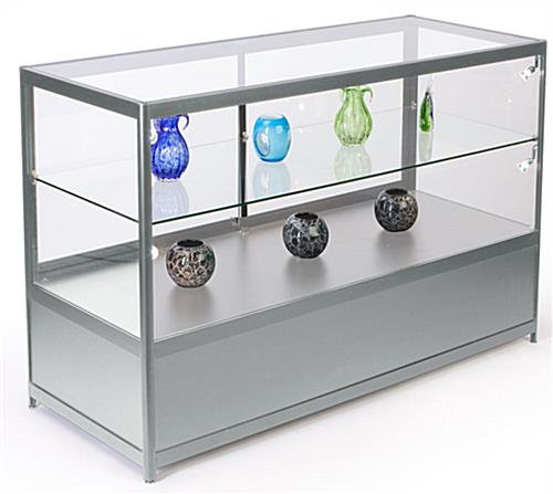 "60"" Wide Glass Store Counter with LED Lights"