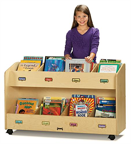 Mobile Childrens Book Storage Cart