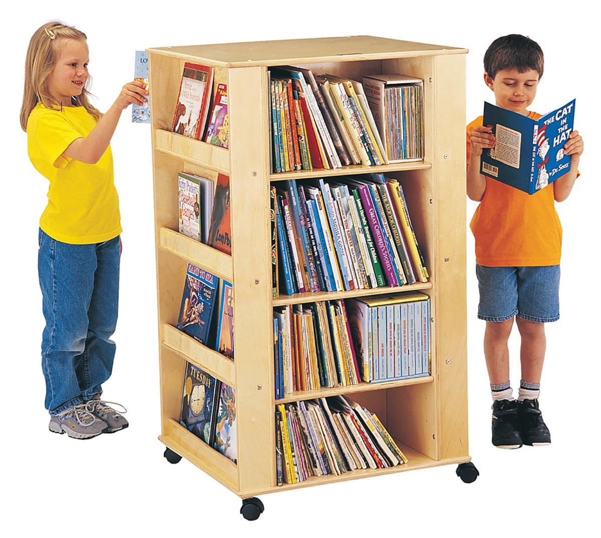 Kids Book Organizer Caster Mounted