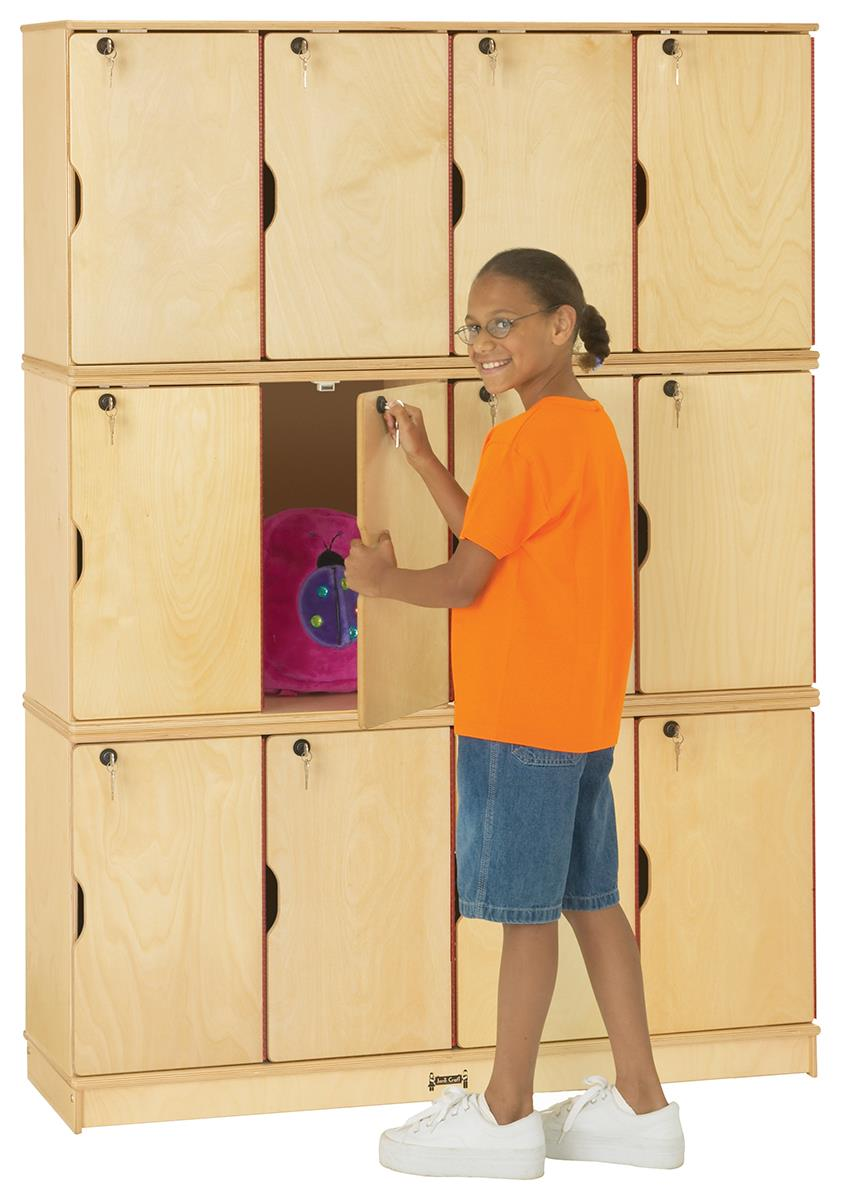 Triple Stacking Kids Lockers Solid Baltic Birch