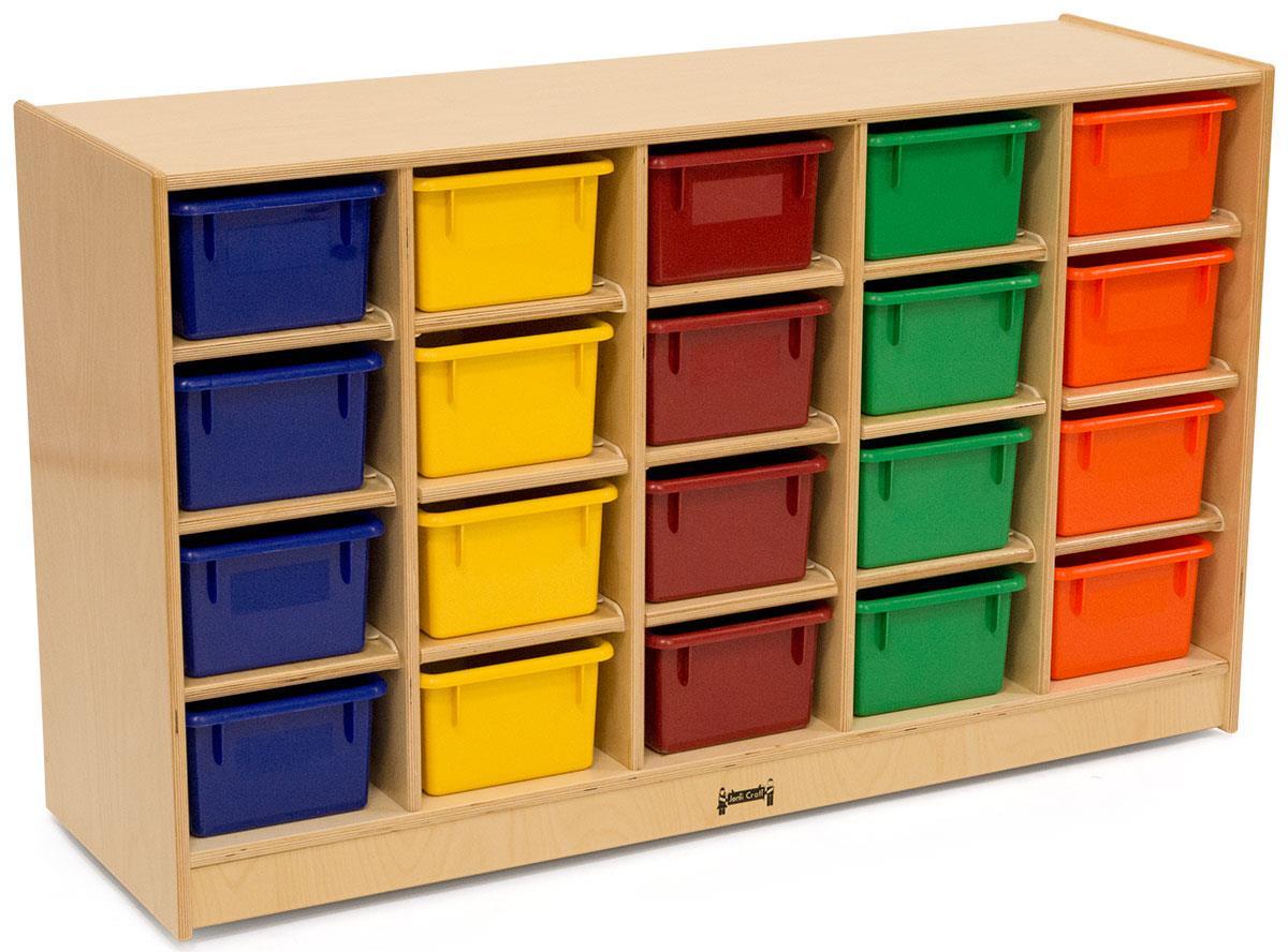 childrens cubbie tray storage single sided. Black Bedroom Furniture Sets. Home Design Ideas