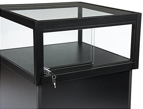 ... LED Display Case Pedestal With Sliding Doors ...