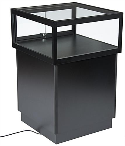 LED Display Case Pedestal with Tempered Glass