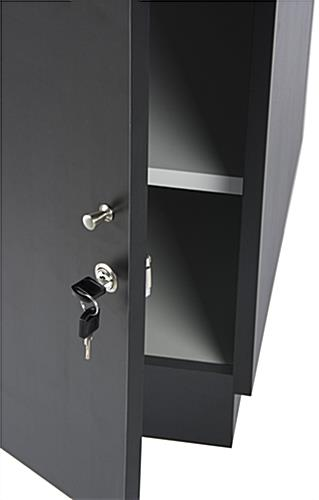 Lockable Jewelry Display Case Black With Tempered Glass