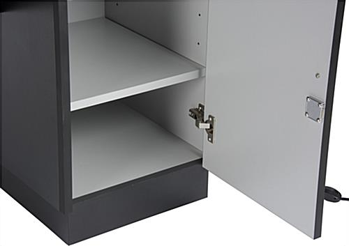 Locking Jewelry Display Case with Removable Storage Shelves