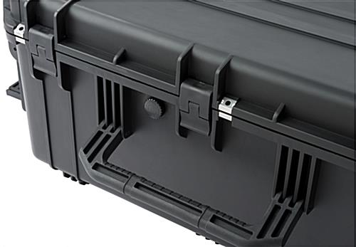 Waterproof cubed foam equipment case with pressure release valve