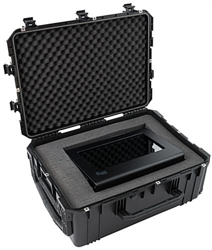 Waterproof cubed foam equipment case for SplashBox display case