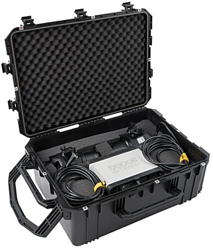 Waterproof cubed foam equipment case for shipping