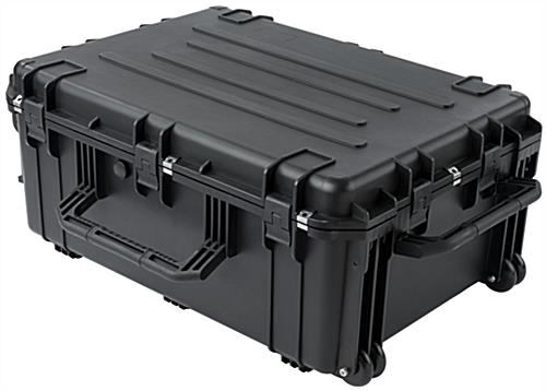 Waterproof cubed foam equipment case with handles