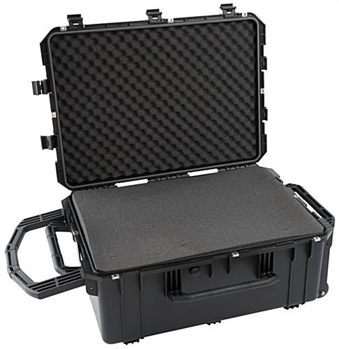 Waterproof cubed foam equipment case with interior padding