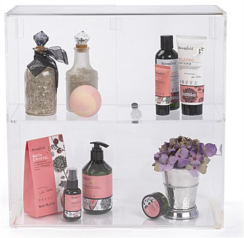 Countertop display cases with 16.9 inch width