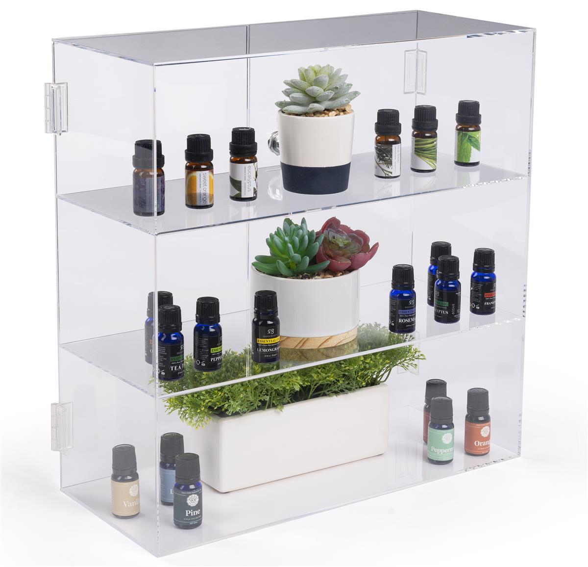 Acrylic Display Case - Hinged Doors & 2 Shelves