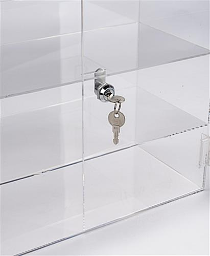 Acrylic display case includes two keys
