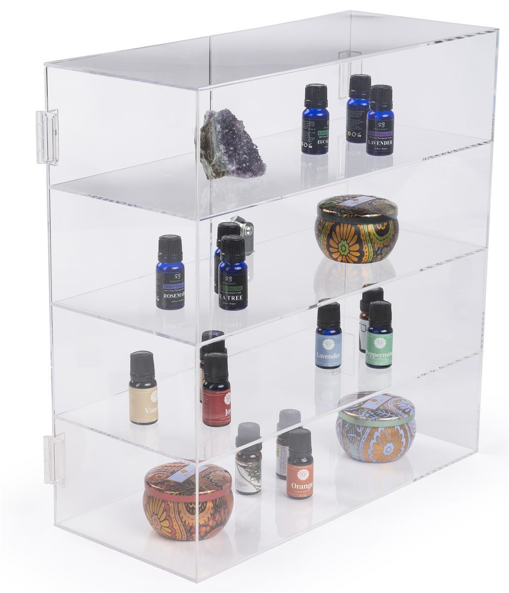 Acrylic Display Case Locking Hinged Doors Amp 3 Shelves