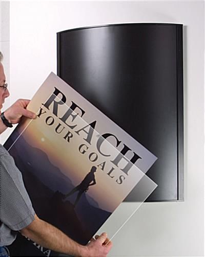 black convex poster frames for 36 x 48 theater bills or ads