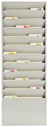 Vertical File Organizer with Putty Finish
