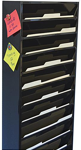 Wall Mounted File Organizer - Magnetic