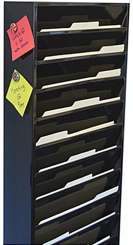 20 Pocket Filing System Metal Hanging Folder Display