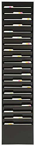 Wall Mounted File Organizer with Black Finish