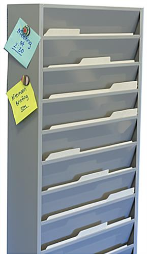 Wall Hanging File Organizer with Magnetic Surface