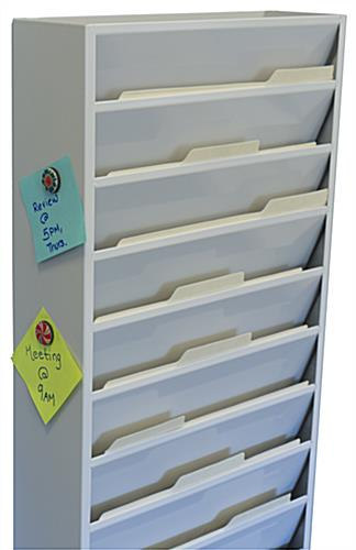 Vertical File Organizer with Magnetic Surface