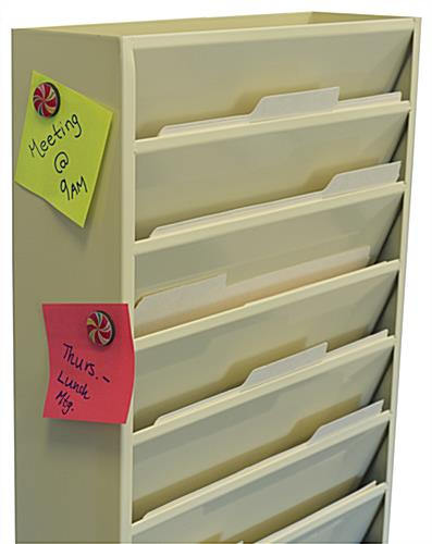 Wall Mount File Holder with Magnetic Surface