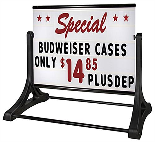48 x 36 sign board outdoor sign with letter kit With outdoor letter board signs