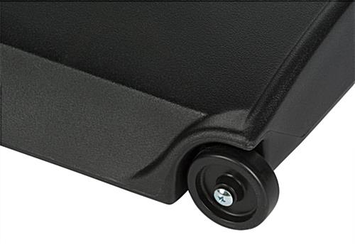 Portable Message Spring Board with Built-In Wheels