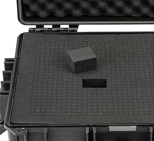 Cubed foam sheets with easily removable pre-scored inserts