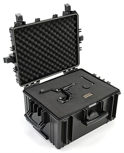 Cubed foam sheets case inserts cushioning for cameras and electronic equipment