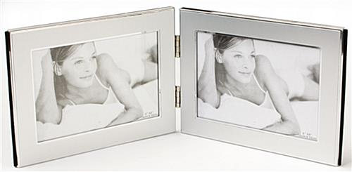 "7"" x 5"" Dual Photo Frame for Tabletop Use"