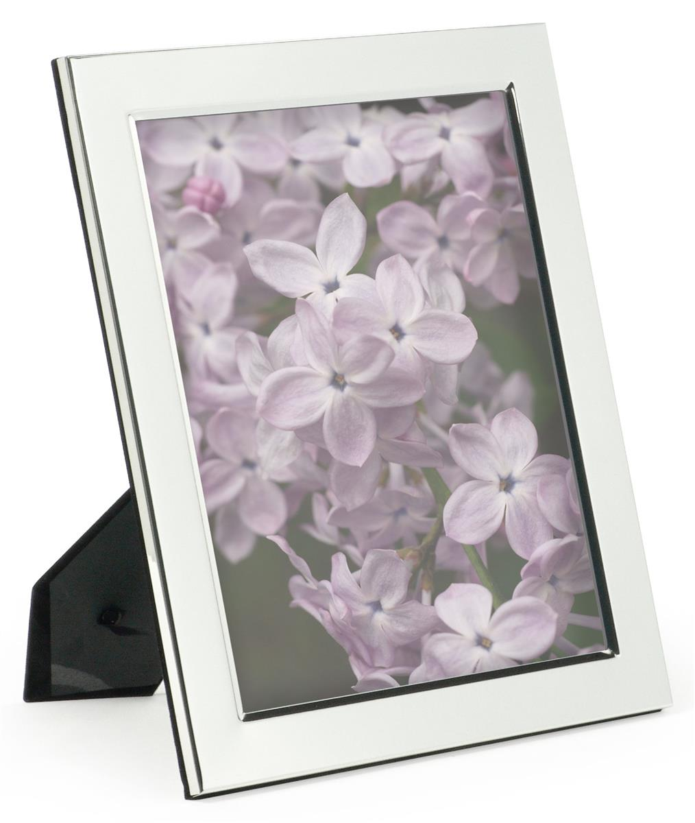 Silver Plated Picture Frames Aluminum Photo Holders