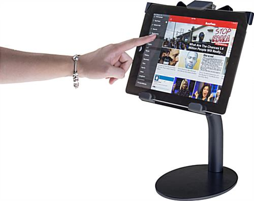 Residential or Commerical Black iPad Countertop Mount