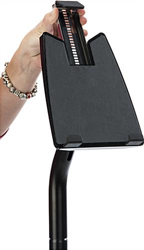 Universal Black Floor iPad Stand