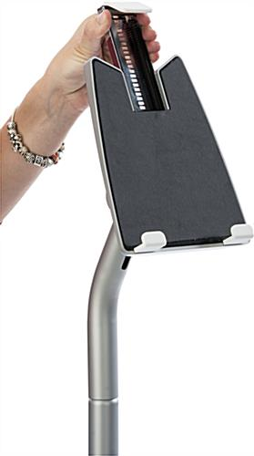 Universal Silver iPad Floor Stand