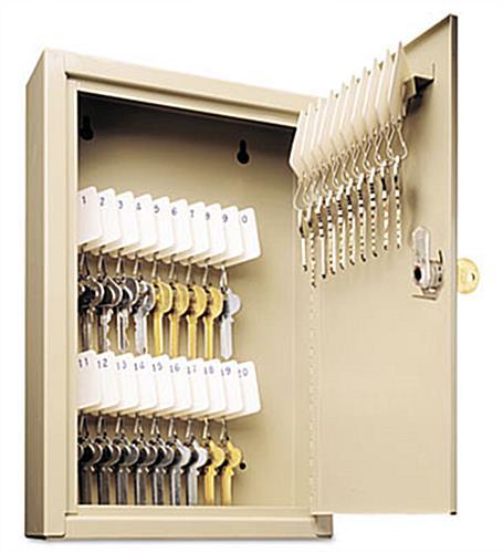30 Hook Key Box | Swing Open Door - Wall Mount