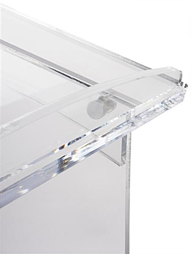 Collapsible Acrylic Podium with Bookstop